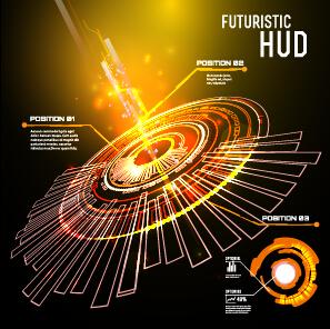 Concept futuristic tech background vector 05