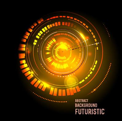Concept futuristic tech background vector 07