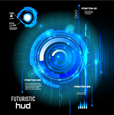 Concept futuristic tech background vector 09