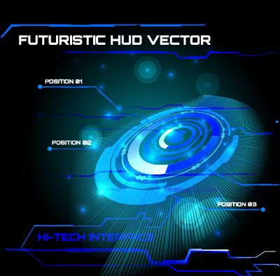 Concept futuristic tech background vector 10