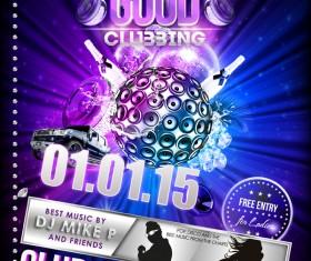 Creative clubbing DJ poster psd material