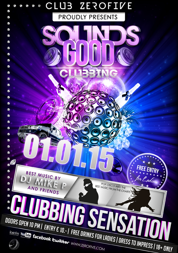 Creative Clubbing Dj Poster Psd Material Backgrounds Psd