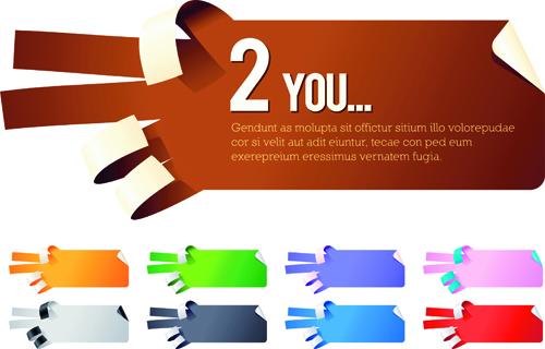 Creative hand gesture sticker vector 03