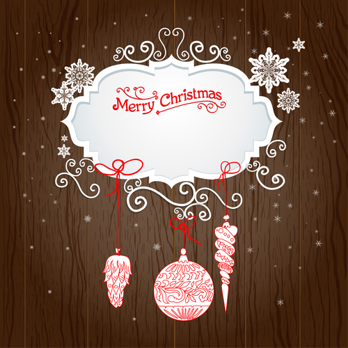 Creative xmas decorations with wooden background 03