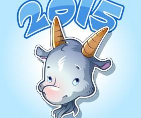 Cute goat 2015 art background 02