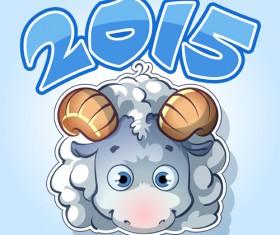 Cute sheep 2015 art background 02