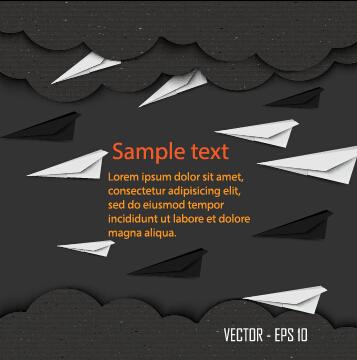 Dark cardboard business template vector 02