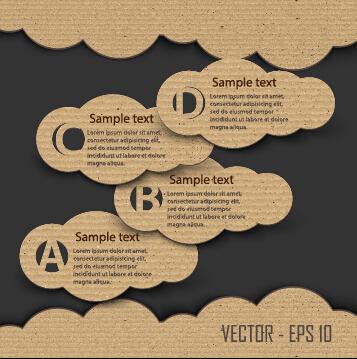 Dark cardboard business template vector 03