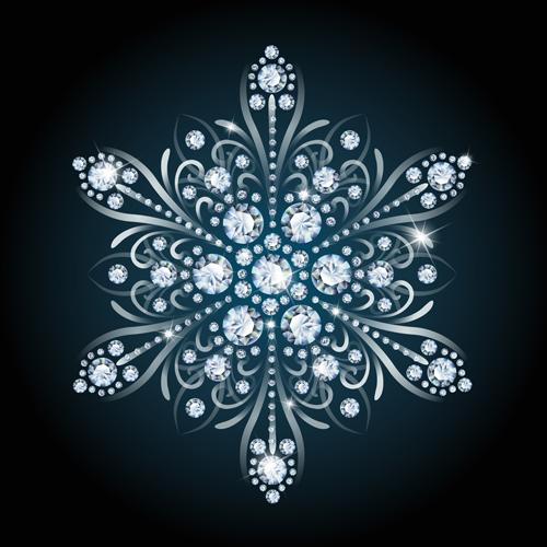 Delicate snowflake christmas illustration vector 01