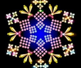 Delicate snowflake christmas illustration vector 05