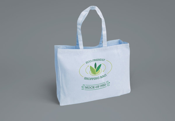 Eco shopping bag psd material 01