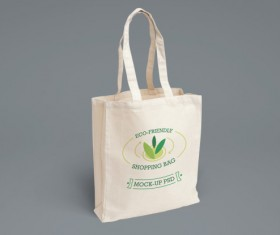 Eco shopping bag psd material 02