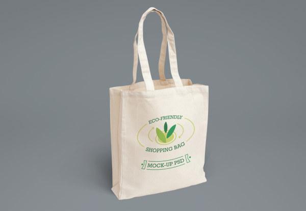 Eco shopping bag psd material 02