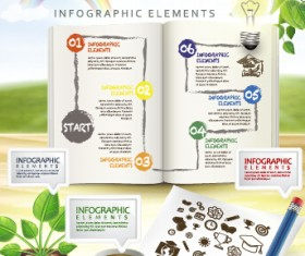 Education and teaching business infographics vector 01