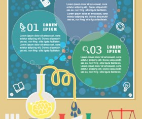 Education and teaching business infographics vector 02