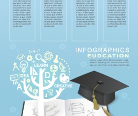 Education and teaching business infographics vector 03