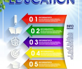 Education and teaching business infographics vector 04