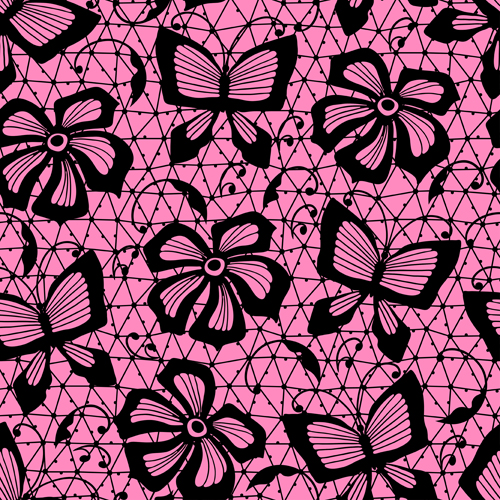 Exquisite lace pattern background 02