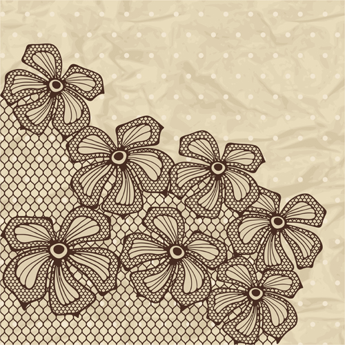 Exquisite lace pattern background 03