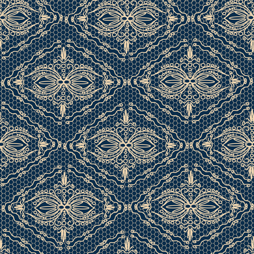 Exquisite lace pattern background 05