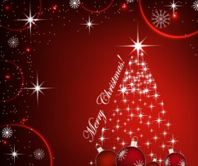 Fantasy christmas baubles vector background 01