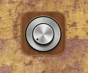 Grunge wall with metal button psd material
