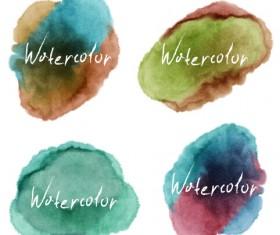 Grunge watercolor blots vector material 01