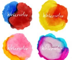 Grunge watercolor blots vector material 02