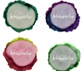 Grunge watercolor blots vector material 03