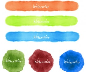 Grunge watercolor blots vector material 04