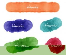 Grunge watercolor blots vector material 05