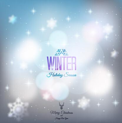 Halation winter christmas vector art background