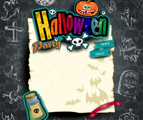 Hand drawn halloween party background 01