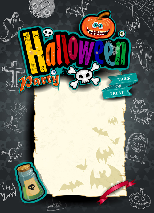 Hand drawn halloween party background 02