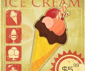 Ice cream retro poster design