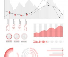 Infographics elements flat UI vector