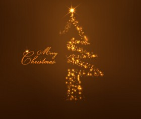 Light dot christmas tree vector background