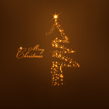 light dot christmas tree vector background