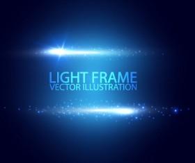 Light frame vector background