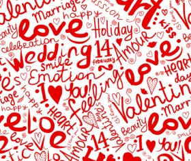 Love with hearts patterns seamless vector set 05