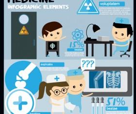 Modern medicine infographic vectors 01