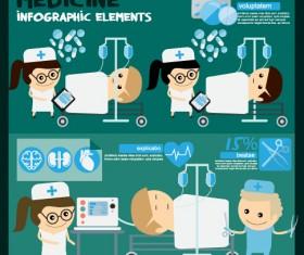 Modern medicine infographic vectors 05