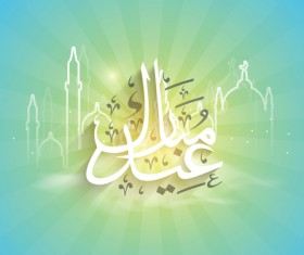 Mubarak Islam background design vector 09