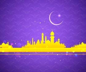 Mubarak Islam background design vector 14
