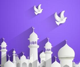 Mubarak Islam background design vector 16