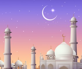 Mubarak Islam background design vector 17