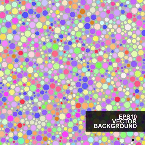 Multicolor dot pattern vector background 02
