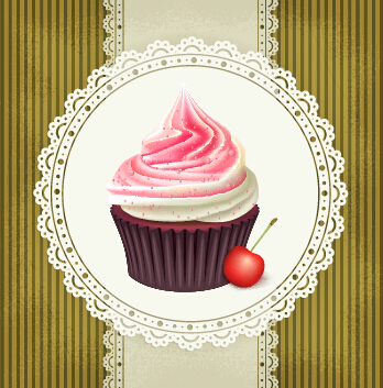 Ornate cakes background vector material 02 - Vector ...