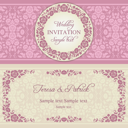 Ornate pink floral wedding invitations vector 01 free download ornate pink floral wedding invitations vector 01 stopboris Gallery