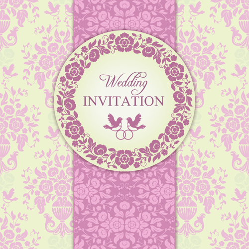 Ornate pink floral wedding invitations vector 03 vector card free ornate pink floral wedding invitations vector 03 stopboris Images